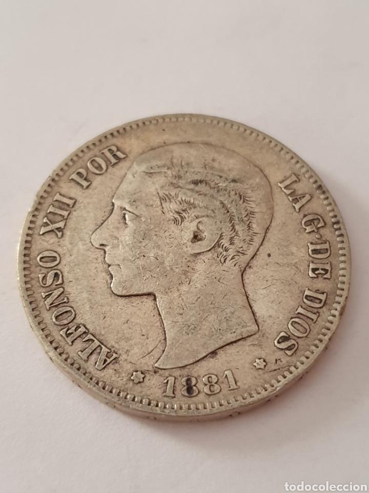 5 PESETAS DE ALFONSO XII 1881 (*-81) (Numismática - España Modernas y Contemporáneas - De Isabel II (1.834) a Alfonso XIII (1.931))
