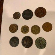 Monedas de España: VARIAS MONEDAS ALFONSO XII 4 CUARTS CNS CASTELLBELL CUBA REPÚBLICA.... Lote 217855492