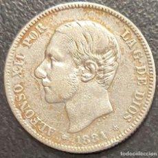 Monete da Spagna: ESPAÑA, MONEDA DE 2 PESETAS DEL AÑO 1881. Lote 217881961