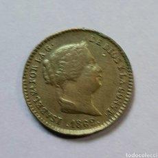 Monedas de España: ISABEL II. 25 CENTÍMOS DE REAL. SEGOVIA 1862.. Lote 217883492