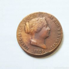 Monedas de España: ISABEL II. 25 CENTÍMOS DE REAL SEGOVIA 1864.. Lote 217890470