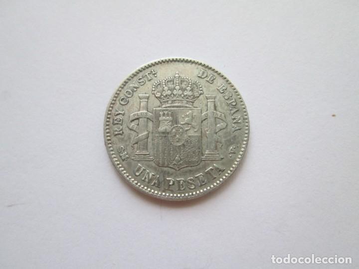 Monedas de España: ALFONSO XIII * 1 PESETA 1903*03 SM V * PLATA - Foto 2 - 218236161