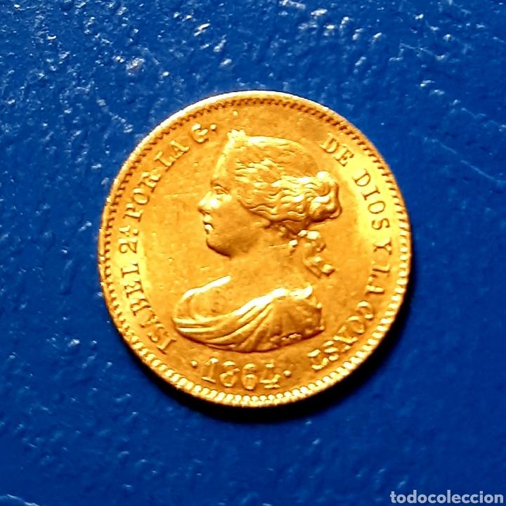 40 REALES ORO ISABEL II AÑO 1864 MADRID MBC (Numismática - España Modernas y Contemporáneas - De Isabel II (1.834) a Alfonso XIII (1.931))