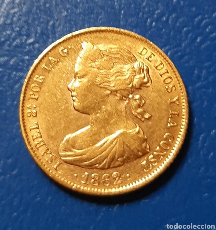 100 REALES ORO. 1862 ISABEL II. BARCELONA MBC (Numismática - España Modernas y Contemporáneas - De Isabel II (1.834) a Alfonso XIII (1.931))