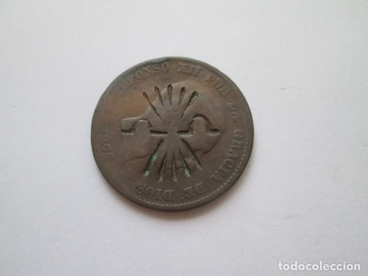 ALFONSO XII * RESELLO SOBRE MONEDA DE 10 CENTIMOS * ESCUDO DE LA FALANGE * (Numismática - España Modernas y Contemporáneas - De Isabel II (1.834) a Alfonso XIII (1.931))