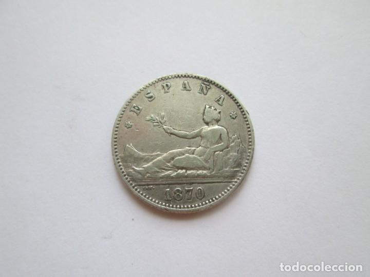GOBIERNO PROVISIONAL * 1 PESETA 1870*73 DE M * PLATA * ESTRELLAS VISIBLES (Numismática - España Modernas y Contemporáneas - De Isabel II (1.834) a Alfonso XIII (1.931))
