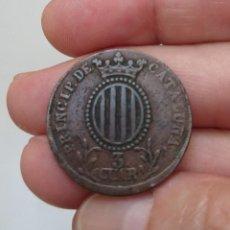 Monedas de España: 3 CUARTOS DE ISABEL II, PRINCIP. DE CATALUÑA, 1840, TROQUEL LIGERAMENTE DESPLAZADO. Lote 218397467
