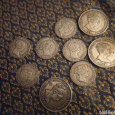 Monedas de España: 9 MONEDAS FALSAS DE ISABEL II. Lote 218645198