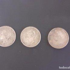 Monedas de España: LOTE DE 3 MONEDAS DE 5 PESETAS DE 1889, 1898 (ALFONSO XIII) Y 1875 (ALFONSO XII). Lote 218735356
