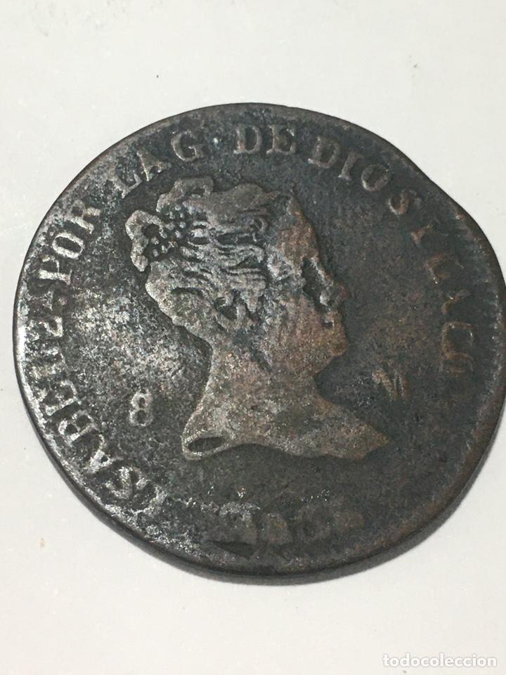 MONEDA DE ESPAÑA-8 MARAVEDÍES-ISABEL II-1835 (Numismática - España Modernas y Contemporáneas - De Isabel II (1.834) a Alfonso XIII (1.931))
