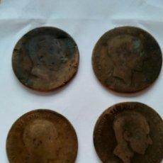 Monedas de España: 10 CTS ALFONSO XII 1878 4 MONEDAS. Lote 218897731