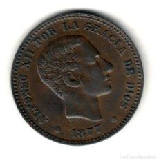 Monedas de España: ESPAÑA 5 CENTIMOS COBRE 1877 BARCELONA - REY DE ESPAÑA ALFONSO XII. Lote 218905672