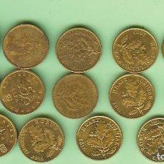 Monedas de España: CROACIA. 14 MONEDAS DE 5 LIPA, 14 FECHAS, DOS MODELOS. Lote 218990316