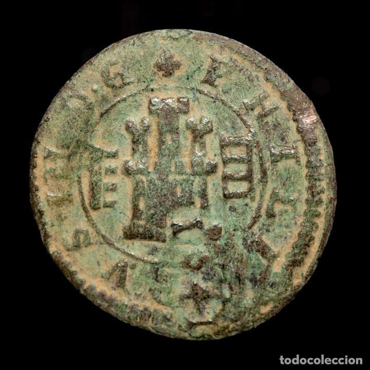 Monedas de España: Felipe III, IIII Maravedis. Segovia, 1604. Resello VI Trujillo 1641 - Foto 2 - 176850360