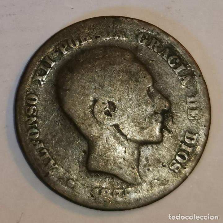 MONEDA DE 10 CENTIMOS ALFONSO XII (Numismática - España Modernas y Contemporáneas - De Isabel II (1.834) a Alfonso XIII (1.931))