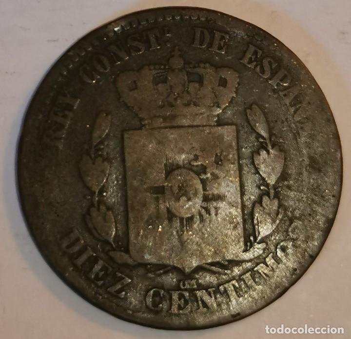Monedas de España: MONEDA DE 10 CENTIMOS ALFONSO XII - Foto 2 - 219105058