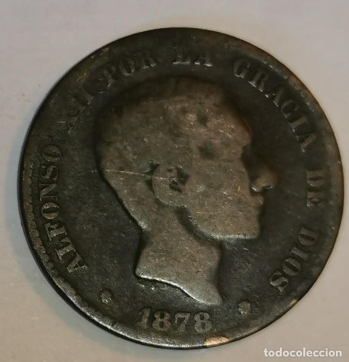 MONEDA DE 10 CENTIMOS ALFONSO XII-1878 (Numismática - España Modernas y Contemporáneas - De Isabel II (1.834) a Alfonso XIII (1.931))