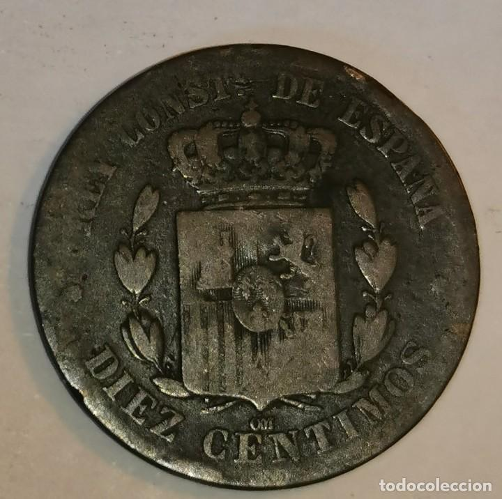 Monedas de España: MONEDA DE 10 CENTIMOS ALFONSO XII-1878 - Foto 2 - 219106408