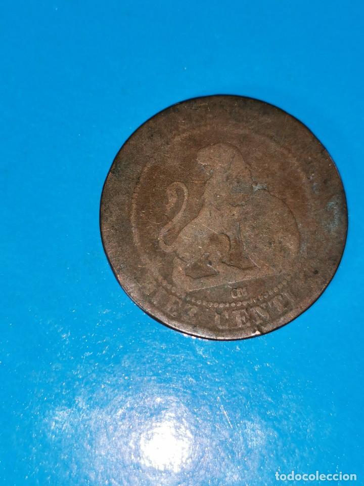 Monedas de España: MONEDA DE 10 CENTIMOS GOBIERNO PROVISIONAL 1870 - Foto 2 - 219123876