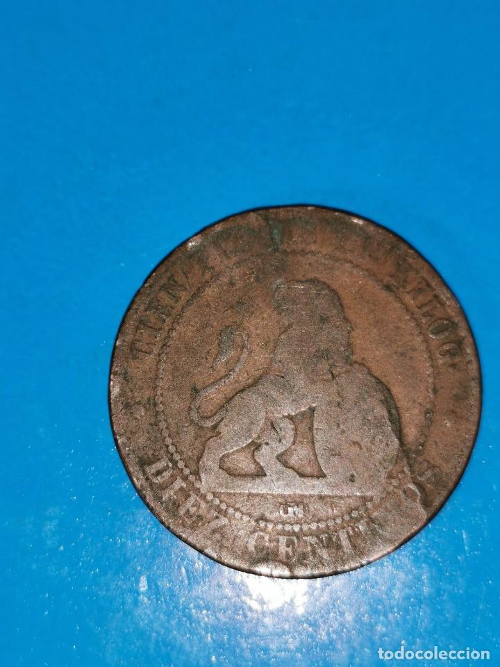 Monedas de España: MONEDA DE 10 CENTIMOS GOBIERNO PROVISIONAL 1870 - Foto 2 - 219124025