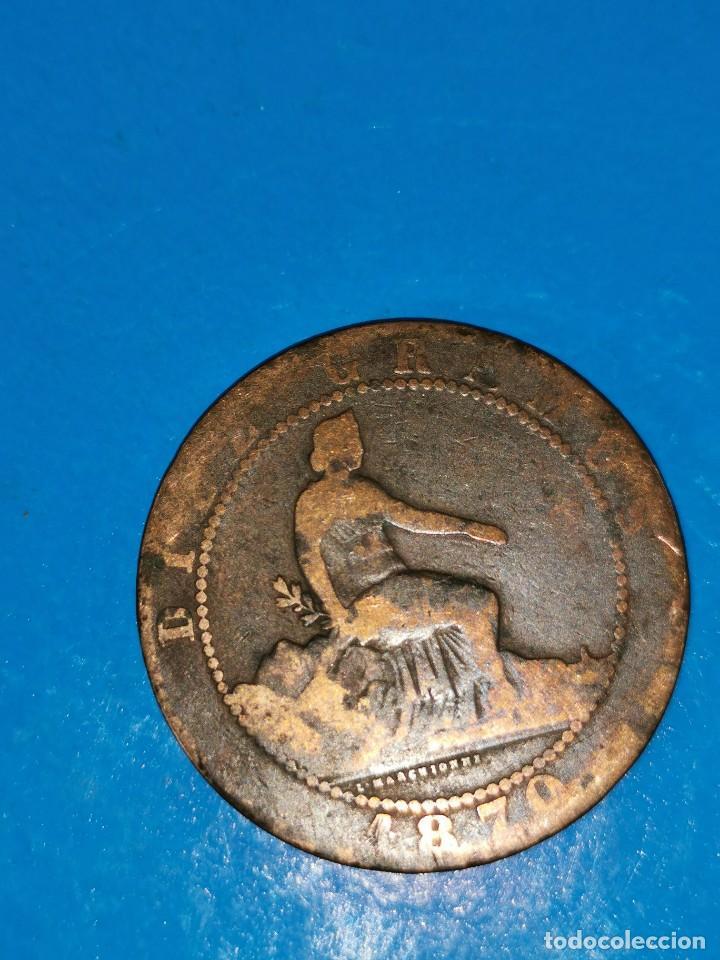 MONEDA DE 10 CENTIMOS GOBIERNO PROVISIONAL 1870 (Numismática - España Modernas y Contemporáneas - De Isabel II (1.834) a Alfonso XIII (1.931))