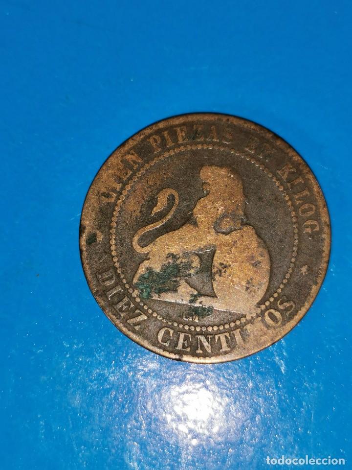 Monedas de España: MONEDA DE 10 CENTIMOS GOBIERNO PROVISIONAL 1870 - Foto 2 - 219124771