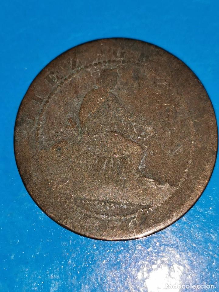 Monedas de España: MONEDA DE 10 CENTIMOS GOBIERNO PROVISIONAL 1870 - Foto 2 - 219125332