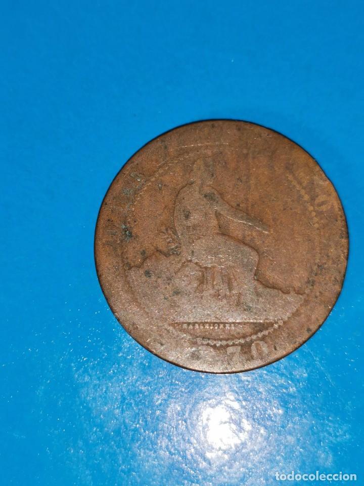 Monedas de España: MONEDA DE 10 CENTIMOS GOBIERNO PROVISIONAL 1870 - Foto 2 - 219125563