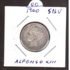 Monedas de España: MONEDA ESPAÑOLA DE PLATA ALFONSO XIII 1900/00 P.G.M. 1 PESETA. Lote 219323590