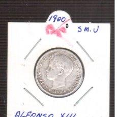 Monedas de España: MONEDA ESPAÑOLA DE PLATA ALFONSO XIII 1900/0 P.G.M. 1 PESETA. Lote 219323813
