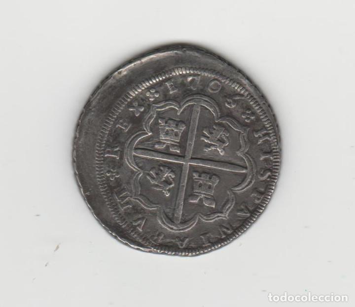 Monedas de España: FELIPE V- 8 REALES- 1705- SEVILLA-P-MUY RARA - Foto 2 - 219554316