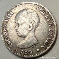 Monedas de España: ESPAÑA 50 CENTIMOS 1889 ESTRELLAS *8*9 PERFECTAS, PLATA. ¡¡¡¡LIQUIDACION COLECCION!!!!. Lote 219600987