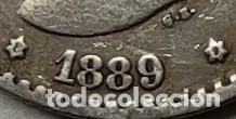 Monedas de España: España 50 CENTIMOS 1889 ESTRELLAS *8*9 Perfectas, PLATA. ¡¡¡¡LIQUIDACION COLECCION!!!! - Foto 2 - 219600987