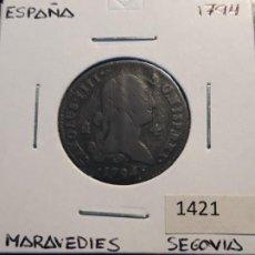 Monedas de España: ESPAÑA 4 MARAVEDIS 1794. Lote 219721028