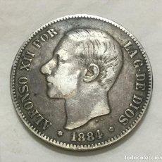 Monete da Spagna: ALFONSO XII - 5 PESETAS - 1884 *()-84 MSM - MBC+ - PLATA. (T2-4). Lote 219896215