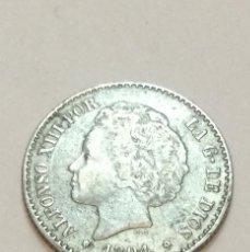 Monete da Spagna: ALFONSO XIII - 50 CENTIMOS - 1894 *9-4 PGV - PLATA - EBC. Lote 219958768