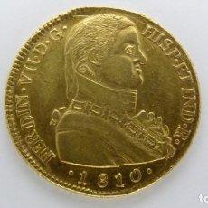 Monedas de España: 8 ESCUDOS DE ORO. FERNANDO VII. SANTIAGO - FJ - 1810. Lote 220259912
