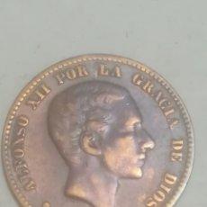 Monedas de España: MONEDA 10 CÉNTIMOS 1877.OM. ALFONSO XII.COBRE.. Lote 220297402