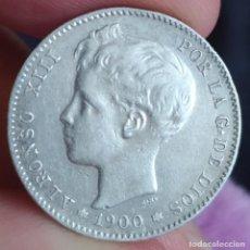 "Monedas de España: 1 PESETA 1900 19*00"" (MBC, MBC-). Lote 220484426"