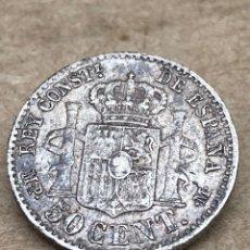 Monedas de España: MONEDA DE PLATA 1889 ALFONSO XIII 50 CENT. Lote 220821232