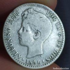 Monedas de España: ALFONSO XIII 50 CÉNTIMOS 1896 9*6* (ESCASA). Lote 220864526