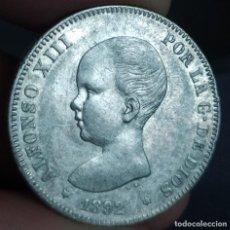 Monedas de España: ALFONSO XIII 2 PESETAS 1892 (EBC-,EBC). Lote 220868006