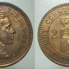 Monnaies d'Espagne: MONEDA DE ALFONSO XIII 2 CENTIMOS DE 1904 * 04 SIN CIRCULAR. Lote 220904421