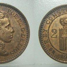 Monnaies d'Espagne: MONEDA DE ALFONSO XIII 2 CENTIMOS DE 1904 * 04 SIN CIRCULAR. Lote 220904432