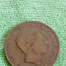 Monedas de España: 10 CÉNTIMOS DE ALFONSOXII DE 1879. BARCELONA. Lote 221098973