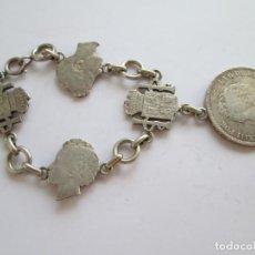 Monedas de España: ALFONSO XIII * 5 PESETAS 1892 * MONTADO EN LLAVERO DE PLATA. Lote 221161923