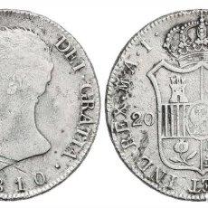 Monedas de España: 20 REALES JOSE NAPOLEON 1810 MADIRD A.I.. Lote 221165445