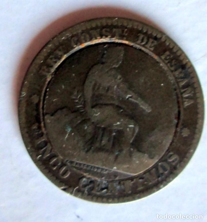 MONEDA TRUCADA CON LA REOUBLICA Y ALFONSO XII (Numismática - España Modernas y Contemporáneas - De Isabel II (1.834) a Alfonso XIII (1.931))
