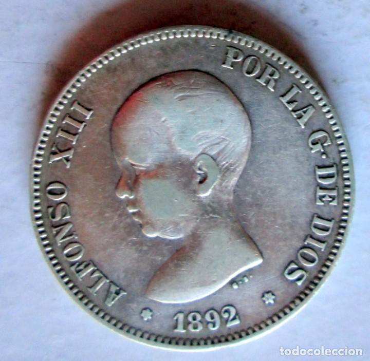 ALFONSO XIII- 5P -1892 PG M PLATA (Numismática - España Modernas y Contemporáneas - De Isabel II (1.834) a Alfonso XIII (1.931))