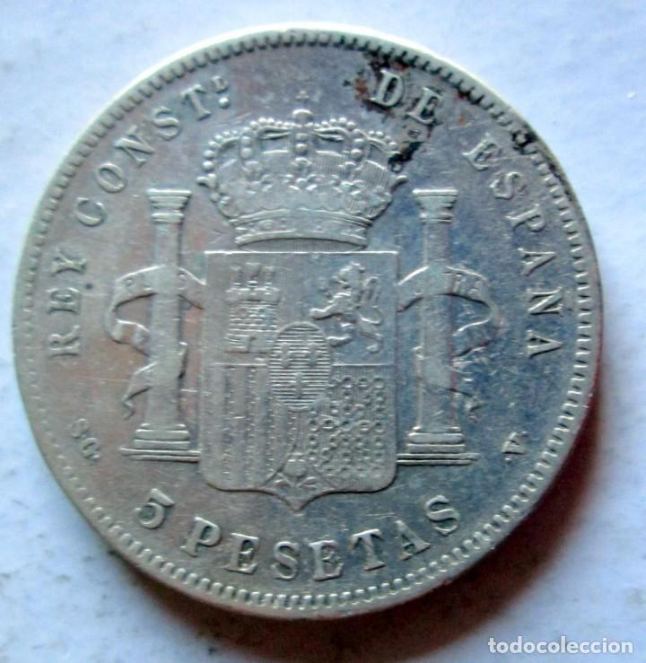 Monedas de España: ALFONSO XIII- 5P -1892 PG M PLATA - Foto 2 - 221273813